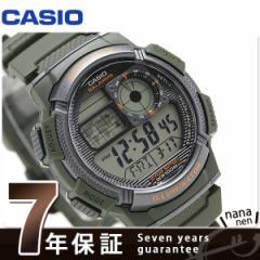 カシオ チプカシ 10気圧防水 海外モデル メンズ 腕時計 AE-1000W-3AVDF CASIO カーキ