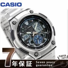 【あす着】カシオ チプカシ 10気圧防水 海外モデル メンズ 腕時計 AQ-190WD-1AVDF CASIO ブラック