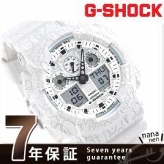G-SHOCK クラックドパターン メンズ 腕時計 GA-100CG-7ADR カシオ Gショック ホワイト
