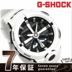 【あす着】G-SHOCK ベーシック レトログラード 腕時計 GA-500-7ADR カシオ Gショック ブラック×ホワイト