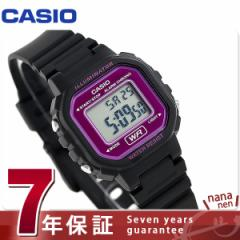 カシオ チプカシ スタンダード ストップウォッチ 腕時計 LA-20WH-4ADF CASIO パープル×ブラック