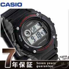 カシオ チプカシ スタンダード ストップウォッチ メンズ 腕時計 W-216H-1AVDF CASIO ブラック