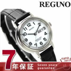 シチズン レグノ ソーラー スタンダード KH5-510-90 CITIZEN REGUNO レディース 腕時計 シルバー×ブラック レザーベルト