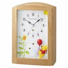 クロック ディズニー くまのプーさん 目覚まし 置き時計 4RM761MC06 Disney