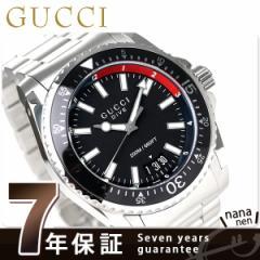 グッチ ダイヴ スイス製 クオーツ メンズ YA136212 GUCCI 腕時計 ブラック