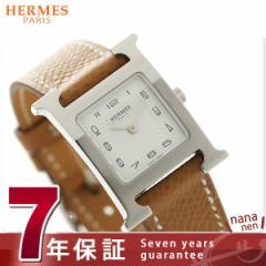 【あす着】【今ならショッパー プレゼント♪】エルメス Hウォッチ レディース 腕時計 036702WW00 HERMES ホワイト×ブラウン 新品