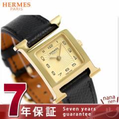 【あす着】【今ならショッパー プレゼント♪】エルメス H ウォッチ 21mm レディース 腕時計 036730WW00 ゴールド×ブラック 新品