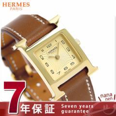 【あす着】【今ならショッパー プレゼント♪】エルメス H ウォッチ 21mm レディース 腕時計 036731WW00 ゴールド×ブラウン 新品
