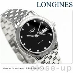 ロンジン フラッグシップ 36mm 自動巻き L4.799.4.57.6 LONGINES 腕時計 ブラック
