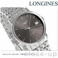 ロンジン エレガント コレクション 34.5mm 自動巻き L4.809.4.72.6 LONGINES 腕時計 グレーシルバー