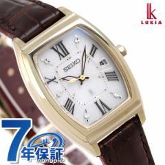 【ノート付き♪】セイコー ルキア レディース トノー 電波ソーラー 腕時計 SSQW034 SEIKO LUKIA シルバー×ブラウン
