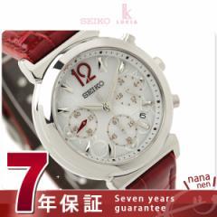 SEIKO ルキア ソーラー クロノグラフ SSVS017 レディース 腕時計 綾瀬はるか LUKIA ホワイト×レッド レザーベルト