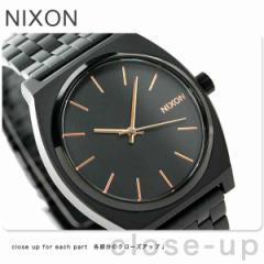 【あす着】ニクソン タイムテラー クオーツ 腕時計 A045957 NIXON オールブラック/ローズゴールド