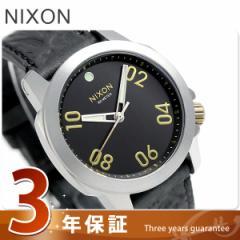 【あす着】ニクソン レンジャー 40 レザー クオーツ 腕時計 A4712222 nixon ブラック/ブラス