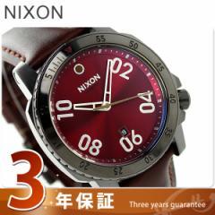 【あす着】ニクソン nixon レンジャー レザー メンズ 腕時計 A5082073 nixon ガンメタル/ディープ バーガンディ