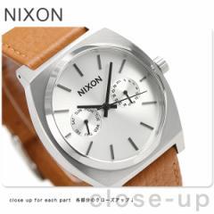 【あす着】ニクソン タイムテラー デラックス レザー 腕時計 A9272310 nixon シルバーサンレイ/サドル