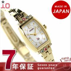 オリエント イオ ブーケ ソーラー レディース 腕時計 WI0391WD ORIENT シルバー×イエローゴールド