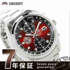 オリエント ネオセブンティーズ クロノグラフ ソーラー WV0031TY ORIENT メンズ 腕時計 レッド