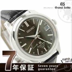 グランドセイコー スプリングドライブ 腕時計 メンズ ブラック レザーベルト GRAND SEIKO SBGE027