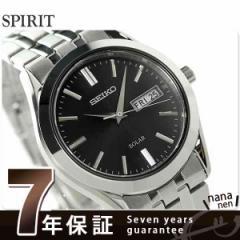【あす着】セイコー スピリット ソーラー メンズ SBPX083 SEIKO SPIRIT 腕時計 ブラック