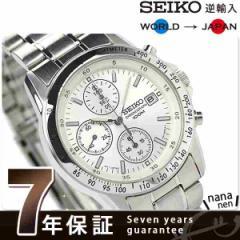 SEIKO 逆輸入 海外モデル 高速クロノグラフ SND363P1 (SND363PC) メンズ 腕時計 クオーツ ホワイト