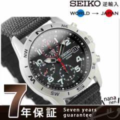 【あす着】SEIKO 逆輸入 海外モデル 高速クロノグラフ SND399P1 (SND399P) メンズ 腕時計 クオーツ ブラック ナイロンベルト