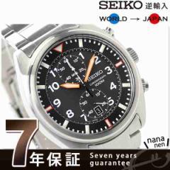 【あす着】SEIKO 逆輸入 海外モデル クロノグラフ クオーツ SNN235P1(SNN235PC) メンズ 腕時計 ブラック