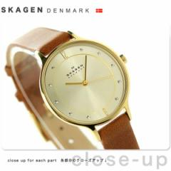 スカーゲン ア二タ クオーツ レディース 腕時計 SKW2147 SKAGEN ゴールド×ブラウン