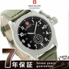 スイスミリタリー クラシック スモールセコンド メンズ 腕時計 ML370 SWISS MILITARY クオーツ ブラック×カーキ テキスタイル