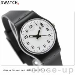 【あす着】スウォッチ スタンダードレディース スイス製 腕時計 ホワイト×ブラック Swatch LB153