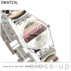 【あす着】スウォッチ スタンダードレディース スイス製 腕時計 シルバー×マルチカラー Swatch LK258G