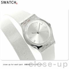 【あす着】スウォッチ オリジナル レディース 二重巻き 腕時計 LK343 SWATCH シルバーラメ