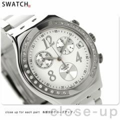 【あす着】スウォッチ アイロニー クロノグラフ メンズ スイス製 腕時計 YCS511GC Swatch クオーツ ホワイト