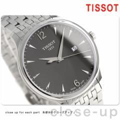 【あす着】ティソ T-クラシック トラディション 42mm メンズ 腕時計 T063.610.11.067.00 TISSOT アンスラサイト