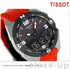 ティソ T-タッチ エキスパート ソーラー 45mm メンズ 腕時計 T091.420.47.057.00 TISSOT ブラック×レッド