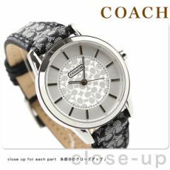 コーチ レディース 腕時計 クラシック シグネチャー シルバー×ブラック レザーベルト COACH 14501524