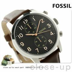 【あす着】フォッシル タウンズマン 44MM クロノグラフ FS4873 FOSSIL メンズ 腕時計 クオーツ ブラック×ブラウン