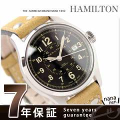 【あす着】ハミルトン 自動巻き カーキ フィールド オート 40MM メンズ H70595593 腕時計 HAMILTON ブラック×ライトブラウンレザー