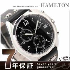 ハミルトン クオーツ カーキ パイロット パイオニア メンズ H76512733 HAMILTON 腕時計 クロノグラフ ブラック レザーベルト