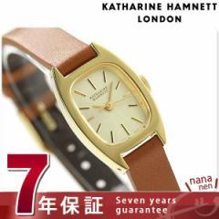 キャサリン ハムネット 日本製 レディース 腕時計 KH08F5-84 KATHARINE HAMNETT シックスティーズ スウィング クオーツ ゴールド×ブラウ