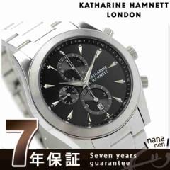 キャサリン ハムネット クロノグラフ 2 日本製 メンズ KH2061-B34 KATHARINE HAMNETT 腕時計 クオーツ ブラック