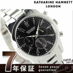 キャサリン ハムネット クロノグラフ 5 日本製 メンズ KH20A5-B29 KATHARINE HAMNETT 腕時計 クオーツ ブラック
