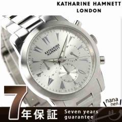 キャサリン ハムネット クロノグラフ 5 日本製 メンズ KH20A6-B19 KATHARINE HAMNETT 腕時計 クオーツ シルバー