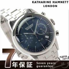 【あす着】キャサリン ハムネット クロノグラフ 6 日本製 メンズ KH20C5-B64 KATHARINE HAMNETT 腕時計 クオーツ ネイビー