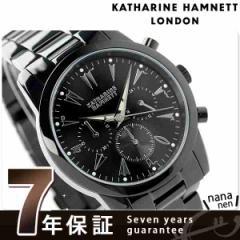 キャサリン ハムネット クロノグラフ 5 日本製 メンズ KH23A5-B39 KATHARINE HAMNETT 腕時計 クオーツ オールブラック