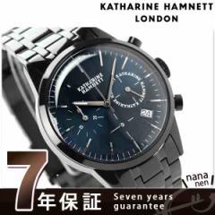 【あす着】キャサリン ハムネット クロノグラフ 6 日本製 メンズ KH23C4-B64 KATHARINE HAMNETT 腕時計 クオーツ ネイビー×ブラック