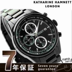 キャサリン ハムネット クロノグラフ 7 日本製 メンズ KH23D2-B34 KATHARINE HAMNETT 腕時計 クオーツ オールブラック