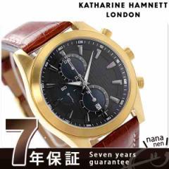 キャサリン ハムネット クロノグラフ 2 ニュー 日本製 メンズ KH28F0-34 KATHARINE HAMNETT 腕時計 クオーツ ブラック×ブラウン レザー