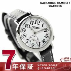 キャサリン ハムネット スモールセコンド ベイビー 日本製 KH70F9-01 KATHARINE HAMNETT レディース 腕時計 クオーツ ホワイト×ブラック