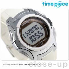 【あす着】タイムピース 電波ソーラー デュアルパワー メンズ 腕時計 TPW-001WH ホワイト